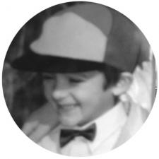 Thomas as a child