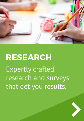 Expertly crafted research and surveys that get you results.